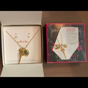 S&D Queen of Hearts Charm Necklace (New In Box)